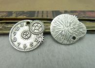 Victorian Steampunk Antique Silver Plated Clock Embellishment