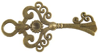 Antique Bronze Finish Victorian Steampunk Key Embellishments for Jewelry or Costumes
