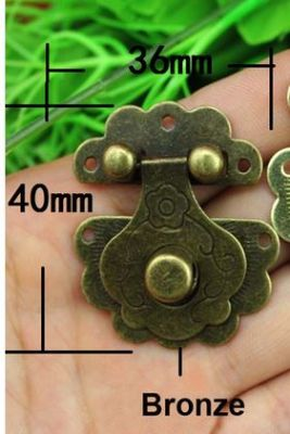 Antique Brass Finish Metal Buckle Latch Clasp - Pack of 2