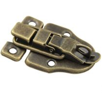 Antique Brass Finish Metal Buckle Latch Clasp - Pack of 2 Latches