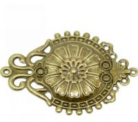Vintage Victorian Styled Steampunk Filigree Ornate Embossed  Embellishment in Antique Bronze/Brass Finish