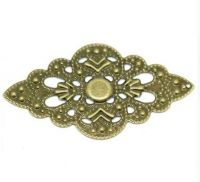 Vintage Victorian Styled Steampunk Filigree Wrap in Antique Bronze/Brass Finish