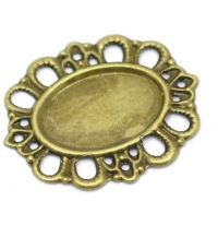 Vintage Victorian Styled Steampunk Filigree Oval Setting Wrap in Antique Bronze/Brass Finish