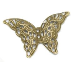 Vintage Victorian Styled Steampunk Filigree Butterfly Jewelry Wrap or  Embellishment in Antique Bronze/Brass Finish
