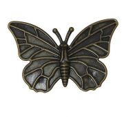Vintage Victorian Styled Steampunk Butterfly Jewelry Wrap or  Embellishment in Antique Bronze/Brass Finish