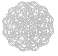 Vintage Victorian Styled Steampunk Filigree Round Doily Jewelry Wrap or Embellishment in Silver Finish