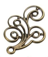 Vintage Victorian Styled Steampunk Filigree Scroll Jewelry or Costume Embellishment in Antique Brass/Bronze Finish