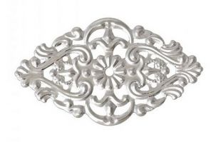 Vintage Victorian Styled Steampunk Filigree Rhombus Jewelry Wrap or Embellishment in Silver Finish