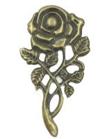 Vintage Victorian Styled Steampunk Filigree Rose Flower Retro Embellishment in Antique Bronze/Brass Finish