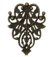 Vintage Victorian Styled Steampunk Filigree Ornate Door Knocker  Embellishment in Antique Bronze/Brass Finish