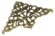 Vintage Victorian Styled Steampunk Filigree Corner Jewelry Wrap or  Embellishment in Antique Bronze/Brass Finish