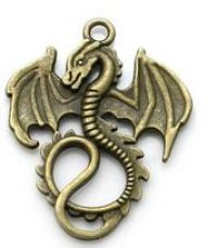 Ascending Dragon Pendant in Brass/Bronze Finish