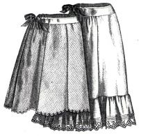 1894 Petticoats for Girls 11-13 Years Pattern by Ageless Patterns