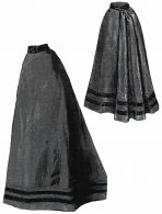 1894 Brown Godet Skirt Pattern by Ageless Patterns