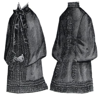 1877 Armure Cloth Sacque Pattern by Ageless Patterns