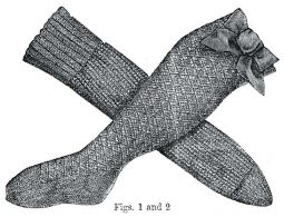 1877 Knitted Stockings for Girl - Instructions by Ageless Patterns