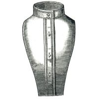 "1885 High Standing Collar with Chemisette 16"" Neck Pattern by Ageless Patterns"
