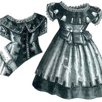1875 Silk Poplin Dress for Girl 3-5 Years Pattern by Ageless Patterns
