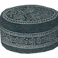 "1877 Smoking Cap with Greek Gold Embroidery - Head 22-7/8"" Pattern by Ageless Patterns"