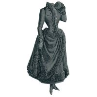 1887 Dark Green Skating Costume Pattern by Ageless Patterns