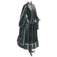 1887 Dark Blue Velveteen Skating Costume Pattern by Ageless Patterns