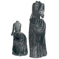 1887 Pistache Green Camel's Hair & Velvet Dress Pattern by Ageless Patterns