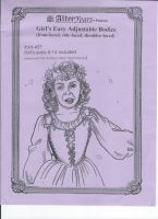 Easy Renaissance Girl's Adjustable Bodice Sewing Pattern by Alter Years