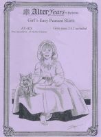 Girl's Easy Peasant Skirts Pattern Sewing Pattern by Alter Years