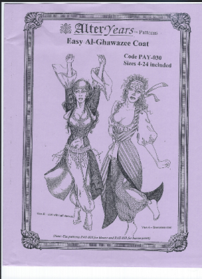 Easy Al-Ghawazee Coat Sewing Pattern by Alter Years