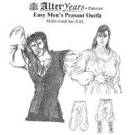 Easy Man's Peasant Outfit Sewing Pattern by Alter Years