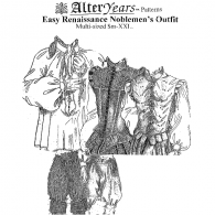 Easy Renaissance Nobleman's Outfit Sewing Pattern by Alter Years
