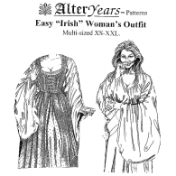 Irish Woman's Outit Sewing Pattern by Alter Years