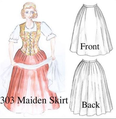 Maiden Skirt Pattern (Instructions/Diagrams Only) from Dawn Schon Patterns