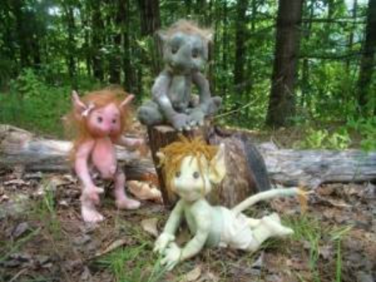 "Lil Stinkers Goblin Babies Craft Pattern by ""Jennifer Carson, The Dragon Charmer"""