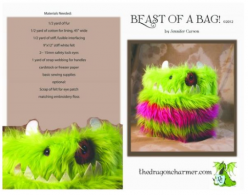 "Beast of a Bag Craft Pattern by ""Jennifer Carson, The Dragon Charmer"""
