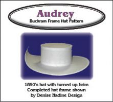 Audrey Hat Pattern - 1898 Inspired, Cavalier, Victorian or Steampunk Styling .