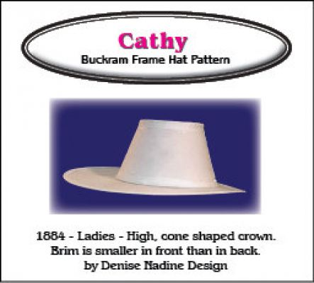 Cathy Hat Pattern - Victorian Period or Steampunk Period Inspired Sewing Pattern by Denise Nadine