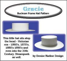 Gracie Hat 1870s, 1880s, 1890s or 20th Century Sewing Pattern by Denise Nadine Designs