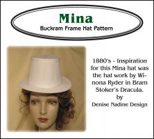 Mina's Hat Pattern - Victorian Era or Steampunk Inspired Sewing Pattern by Denise Nadine Designs