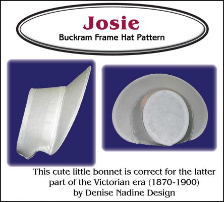 Josie Bonnet Pattern - Late Victorian Era or Steampunk Inspired Sewing  Pattern by Denise Nadine Designs 4d034dcca0e