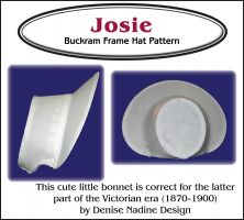 Josie Bonnet Pattern - Late Victorian Era or Steampunk Inspired Sewing Pattern by Denise Nadine Designs