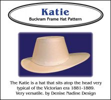 Katie Hat Pattern - 1881-1889 Victorian Era or Steampunk Inspired Sewing Pattern by Denise Nadine Designs
