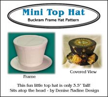 Mini Top Hat Buckram Frame Hat Pattern - Victorian Era or Steampunk Inspired Sewing Pattern by Denise Nadine