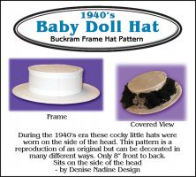 1940's Baby Doll Hat Pattern - By Denise Nadine Designs