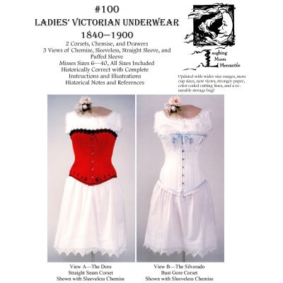 1837- 1899 Ladies' Victorian Underwear Pattern by Laughing Moon Mercantile