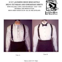 1845 - 1920 Men's Western, Victorian and Edwardian Shirts Pattern by Laughing Moon Mercantile