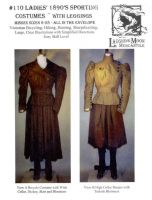 1890's Ladies' Sporting Costumes with Leggings Pattern by Laughing Moon Mercantile