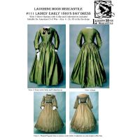 1860's Day Dress Pattern By Laughing Moon Mercantile