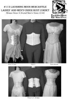 1894-1909 Victorian and Edwardian Ribbon Corset, Corset Girdle and Man's Corset By Laughing Moon Mercantile