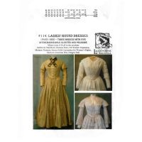 1840's-1852 Ladies Round Dresses Pattern By Laughing Moon Mercantile